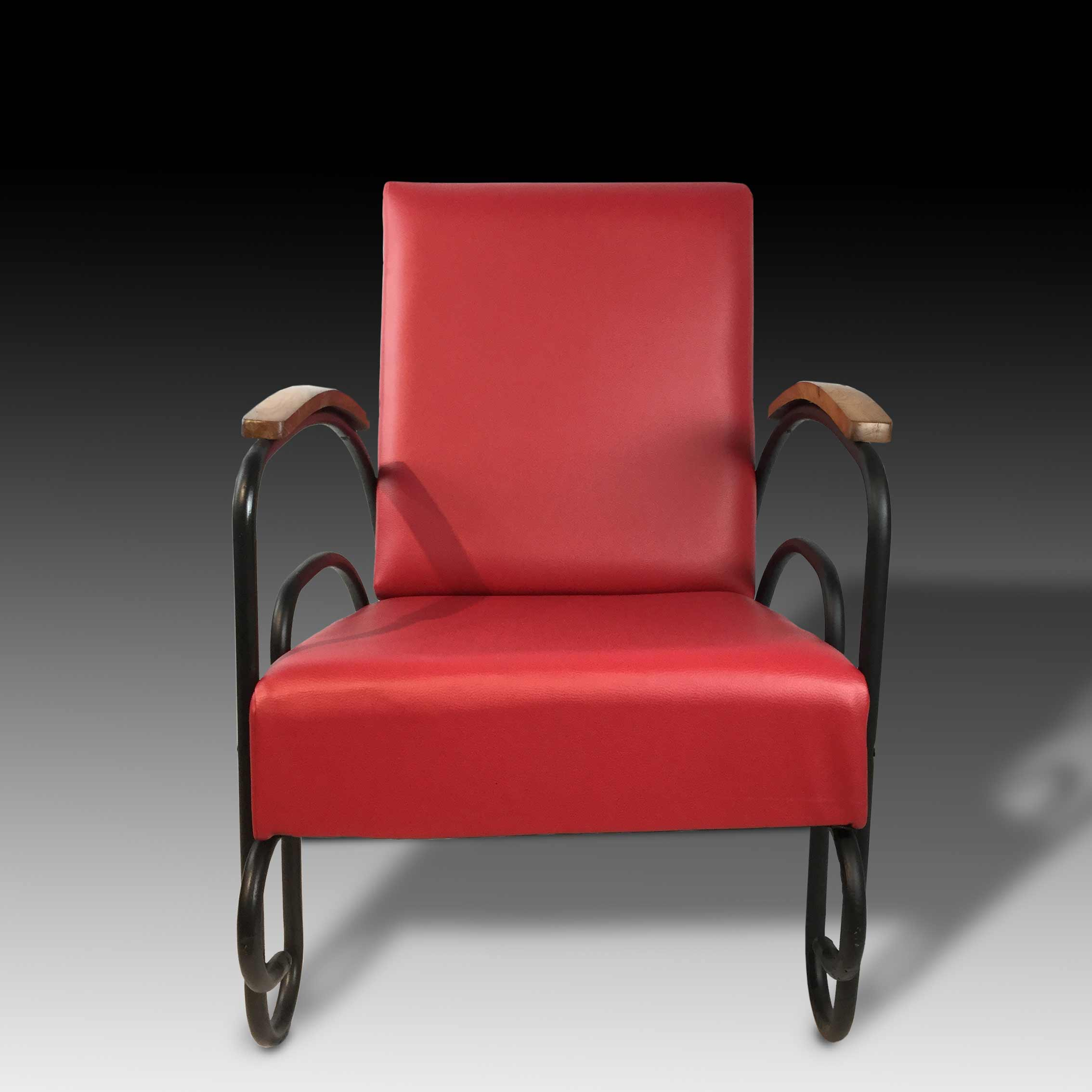 Gianni lounge armchair red