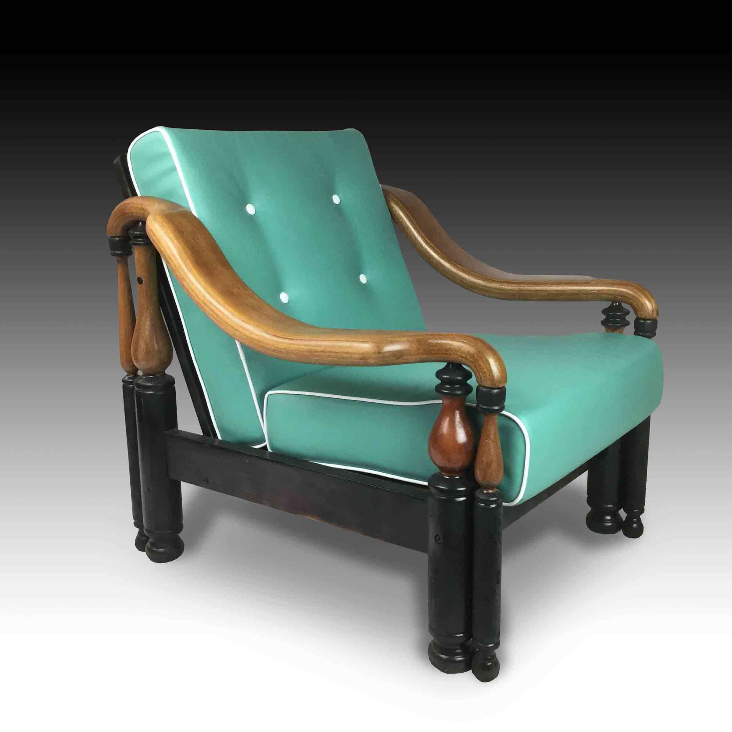 Green lawyer armchair