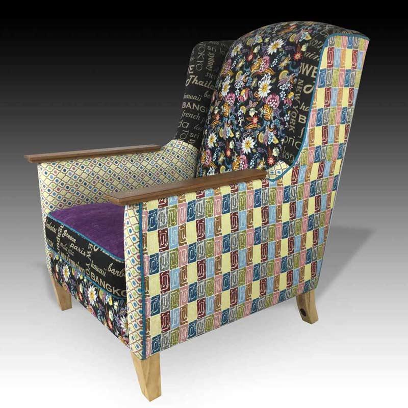 Karin purple armchair