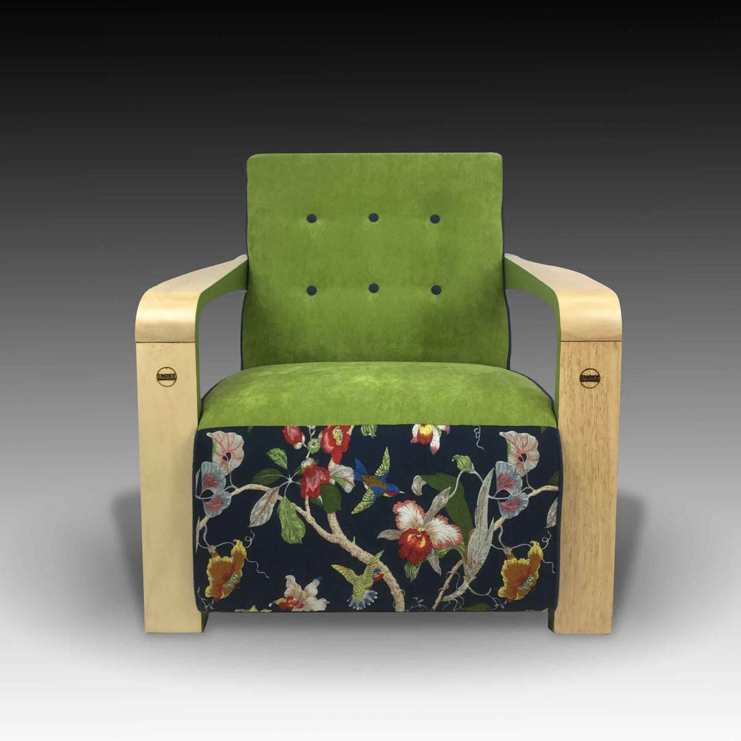 Kriss green armchair square