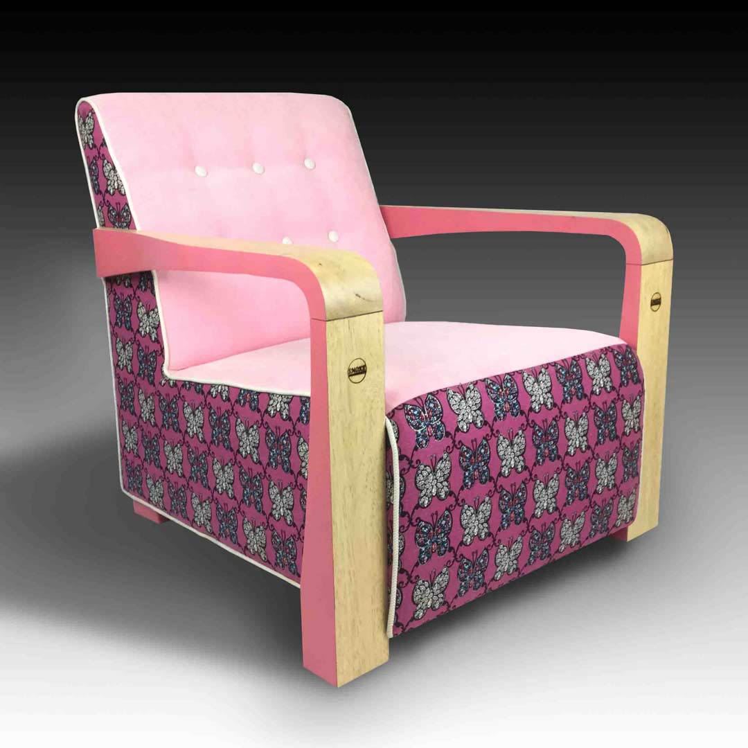 Kriss pink armchair square