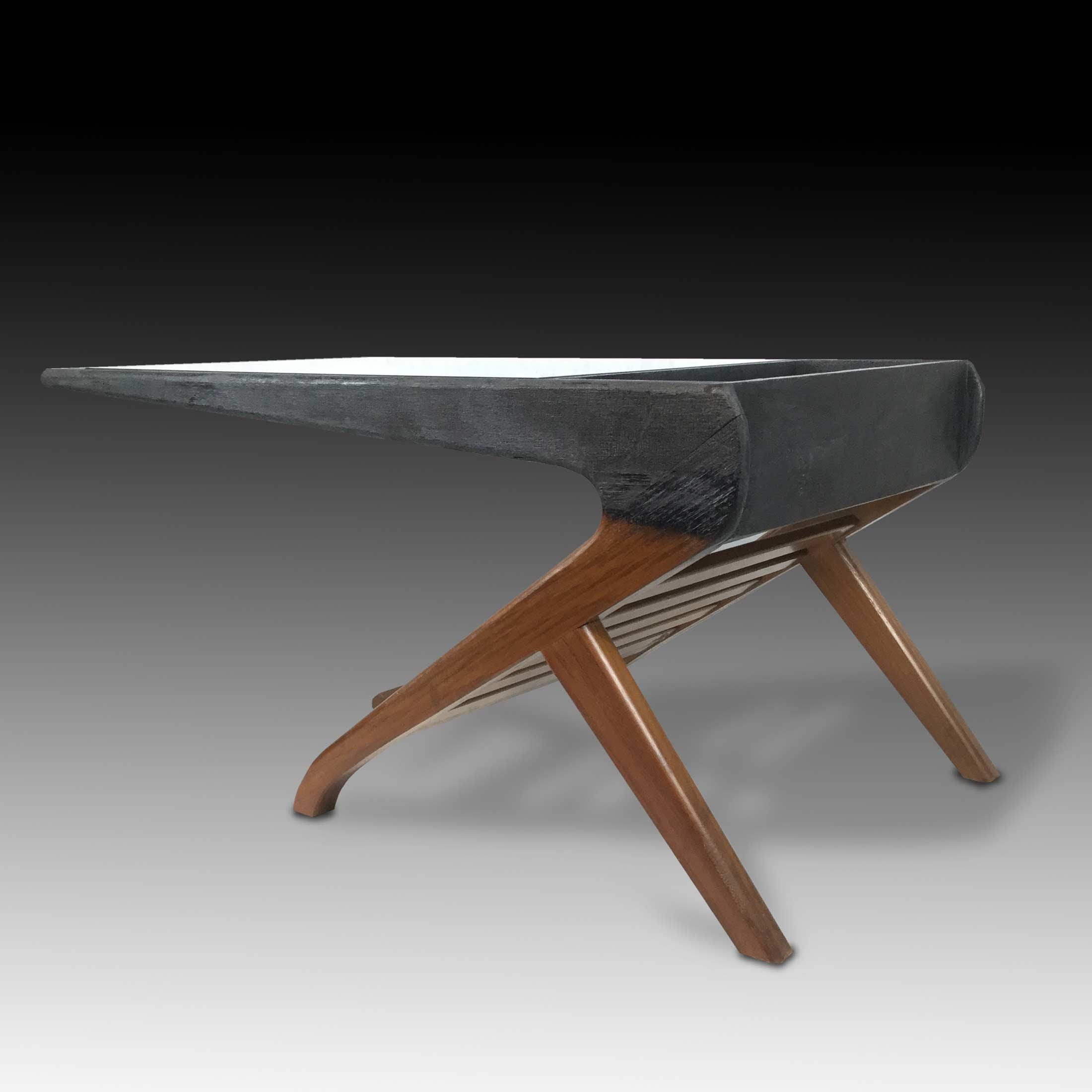 Side kick medium teak wood coffee table