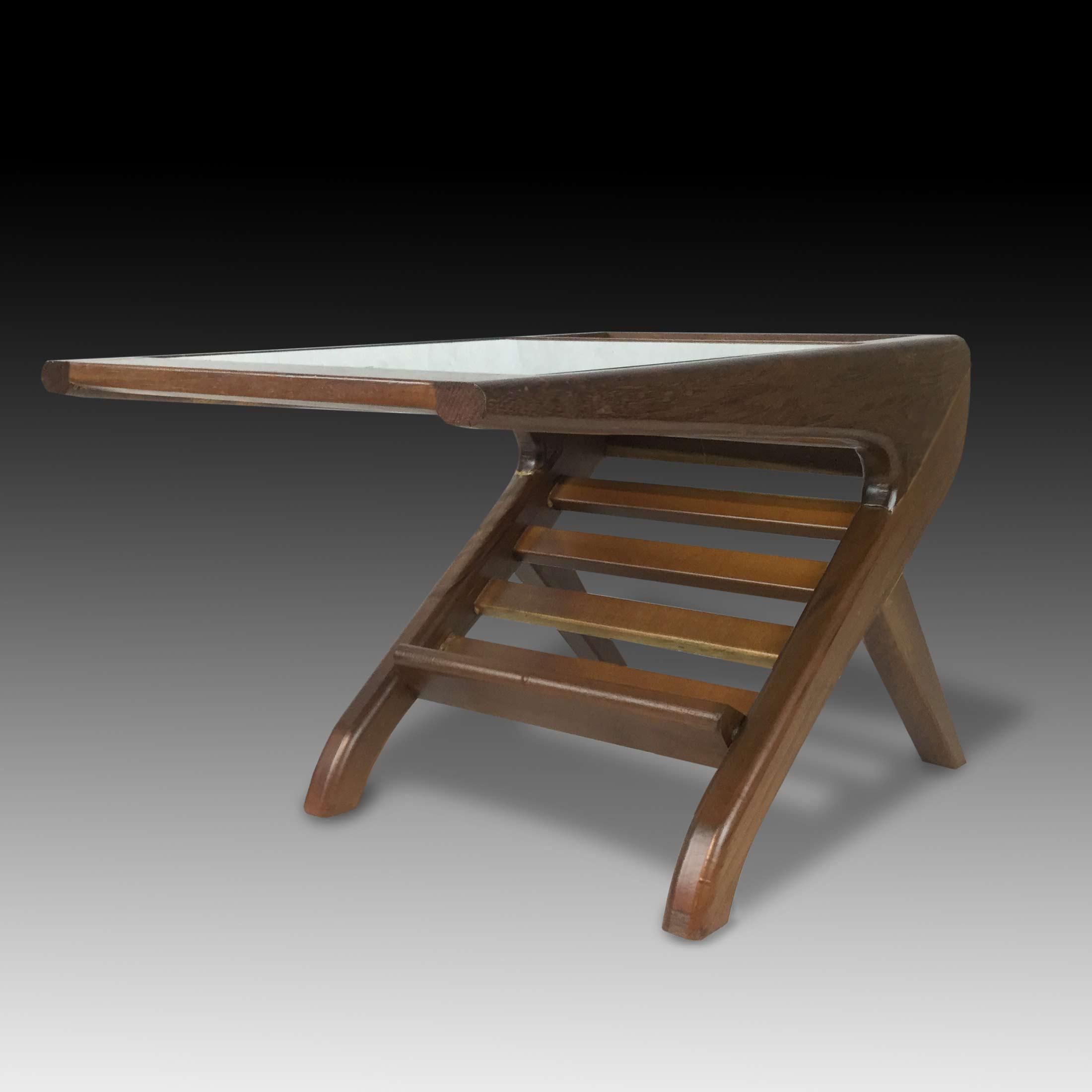 Side kick mini teak wood coffee table
