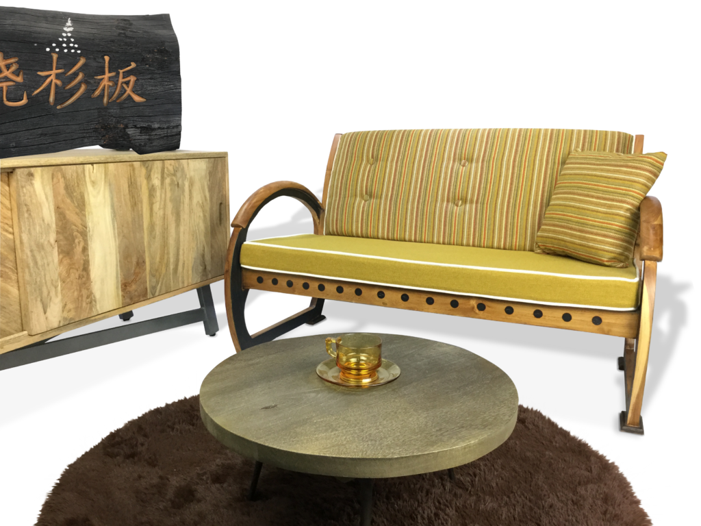 Coffee table wooden armchair tv console table