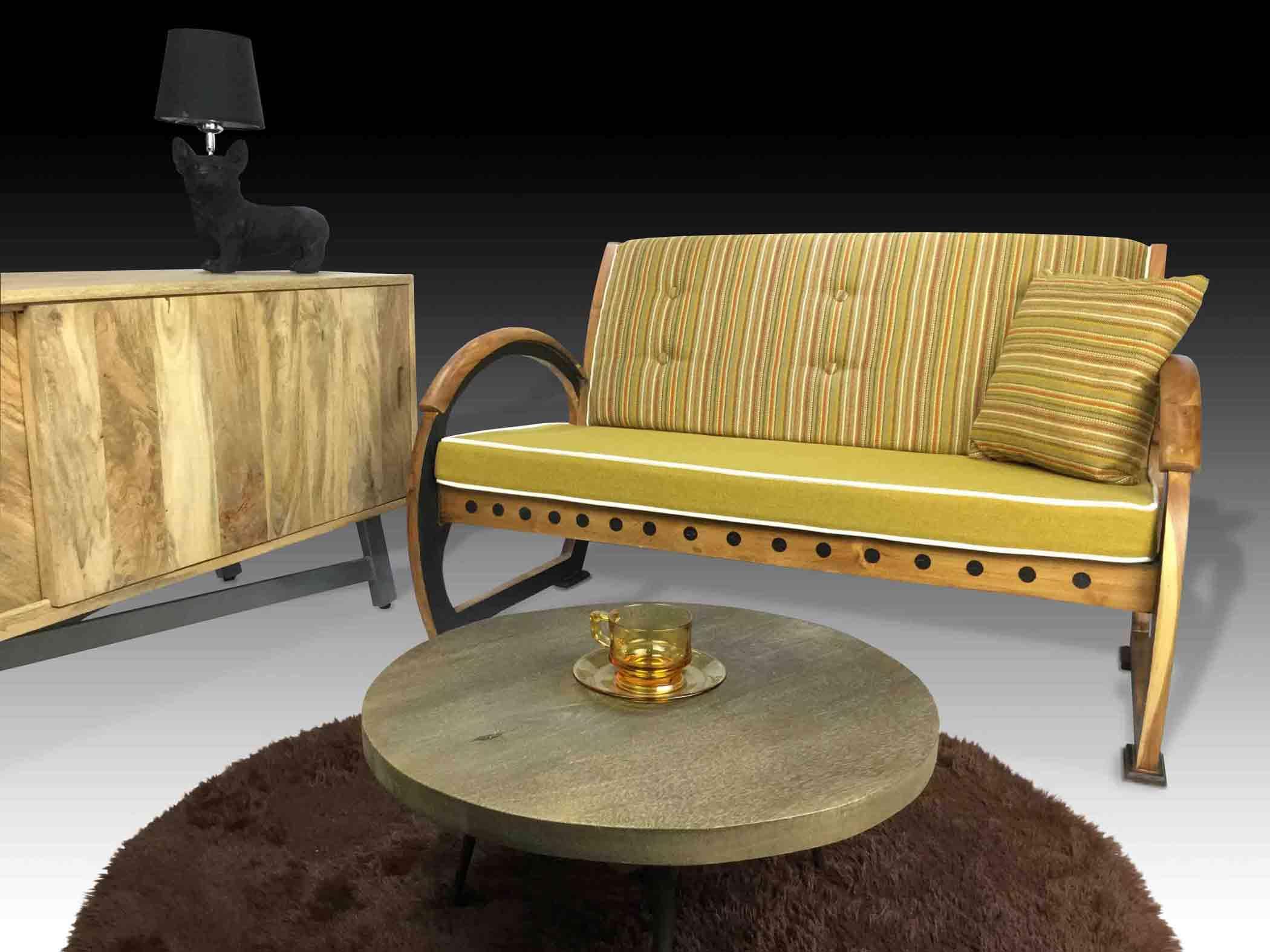 Laurena wooden sofa