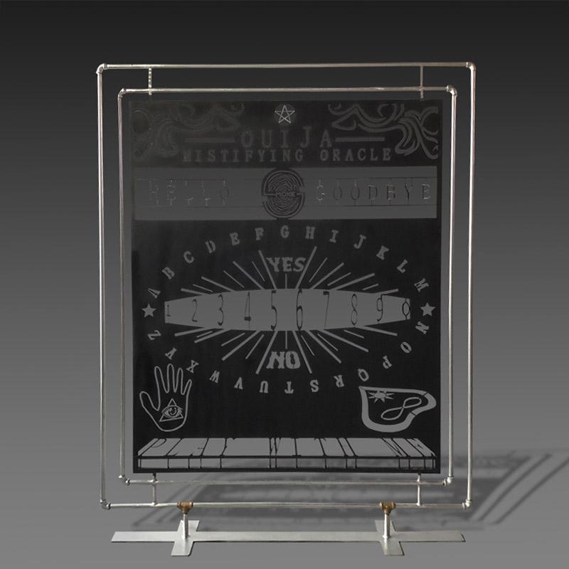 Ouija metal divider with metal base