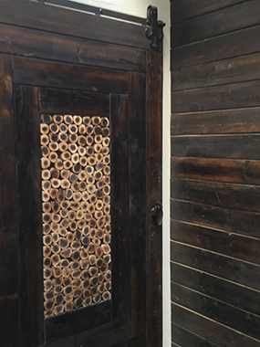 Smoke panel barn door