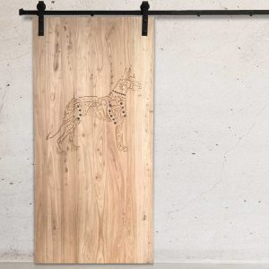 Studded Boxer Natural Barn Door