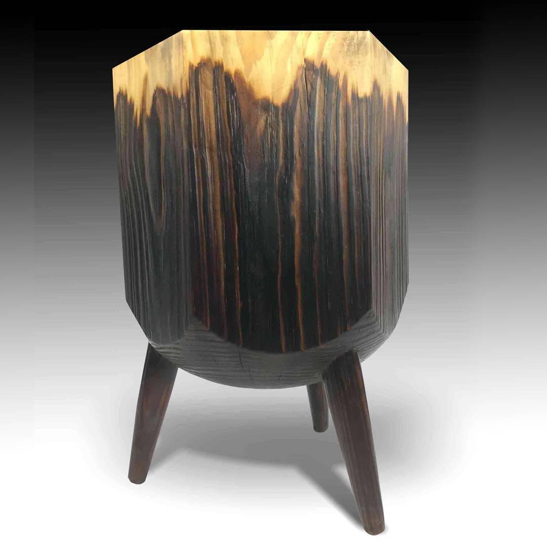 Hexagon organic solid wood stool coffee table