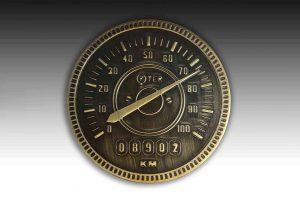 Engraved door knobs speedometer knob 3