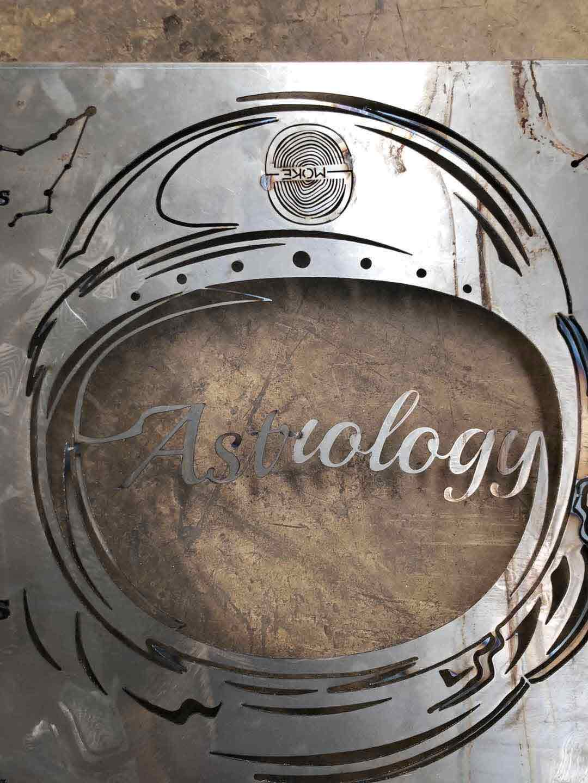astrology-wip metal signage