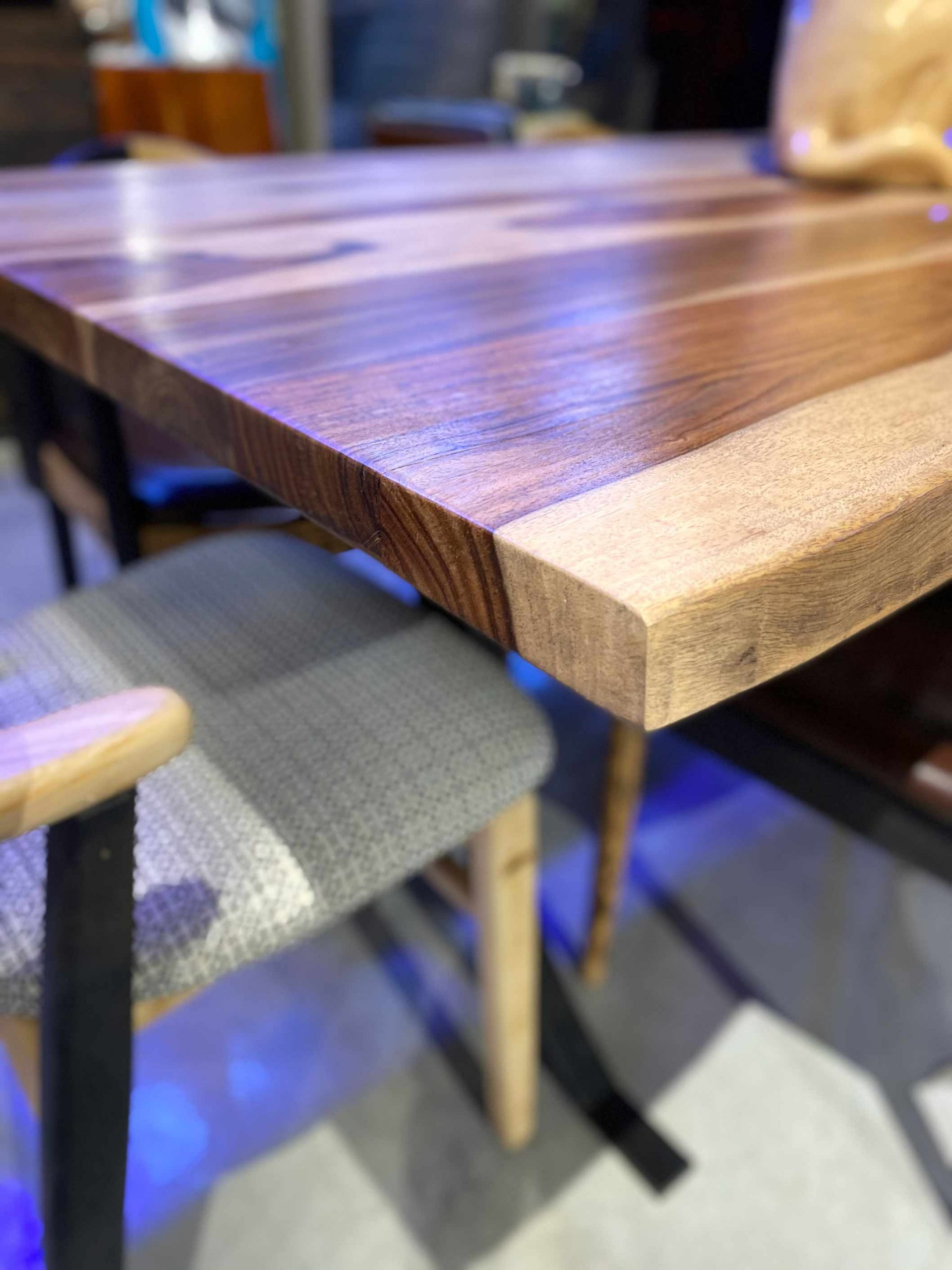 Handcrafted Furniture Singapore Dining Table Detail