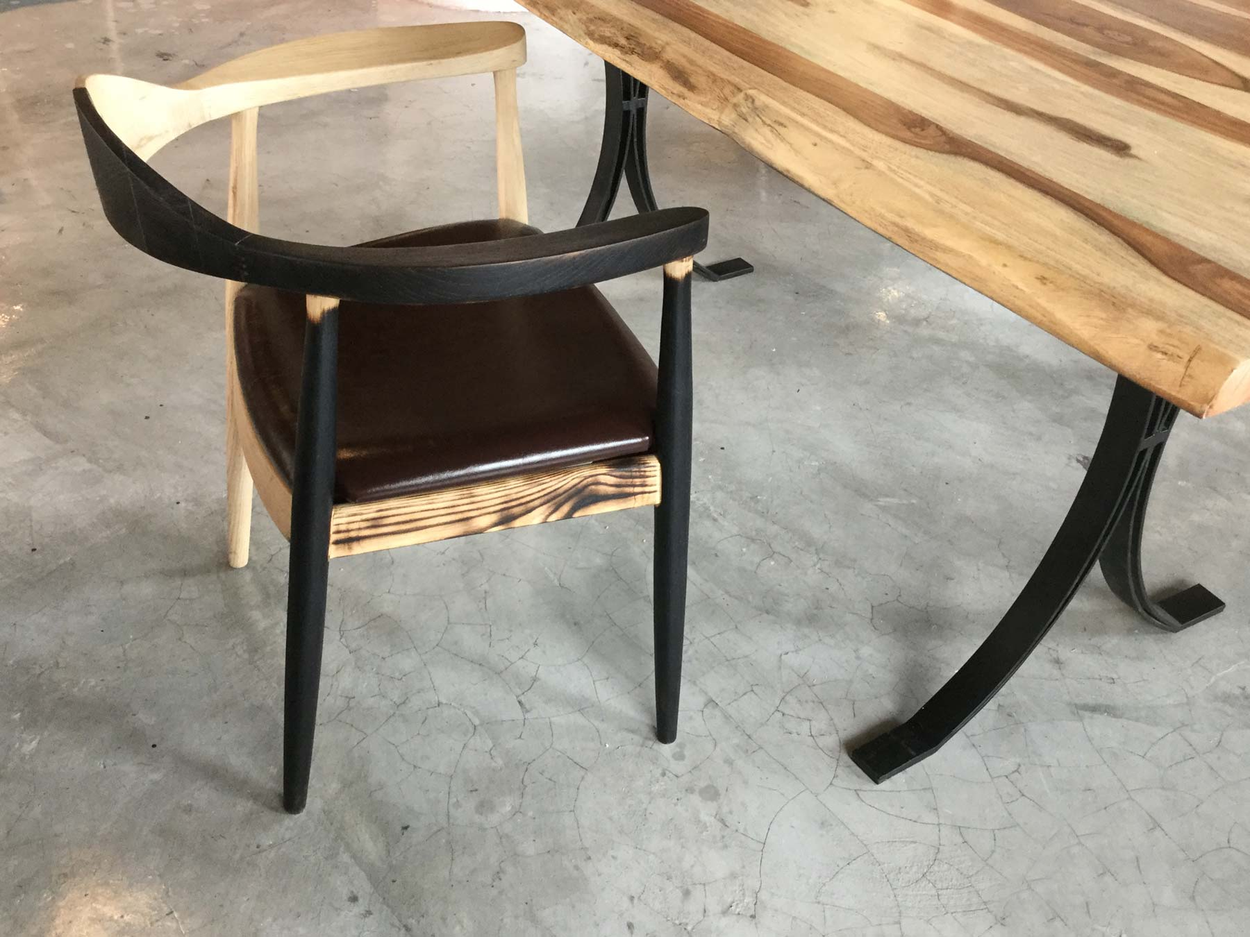 Armchair with dining table