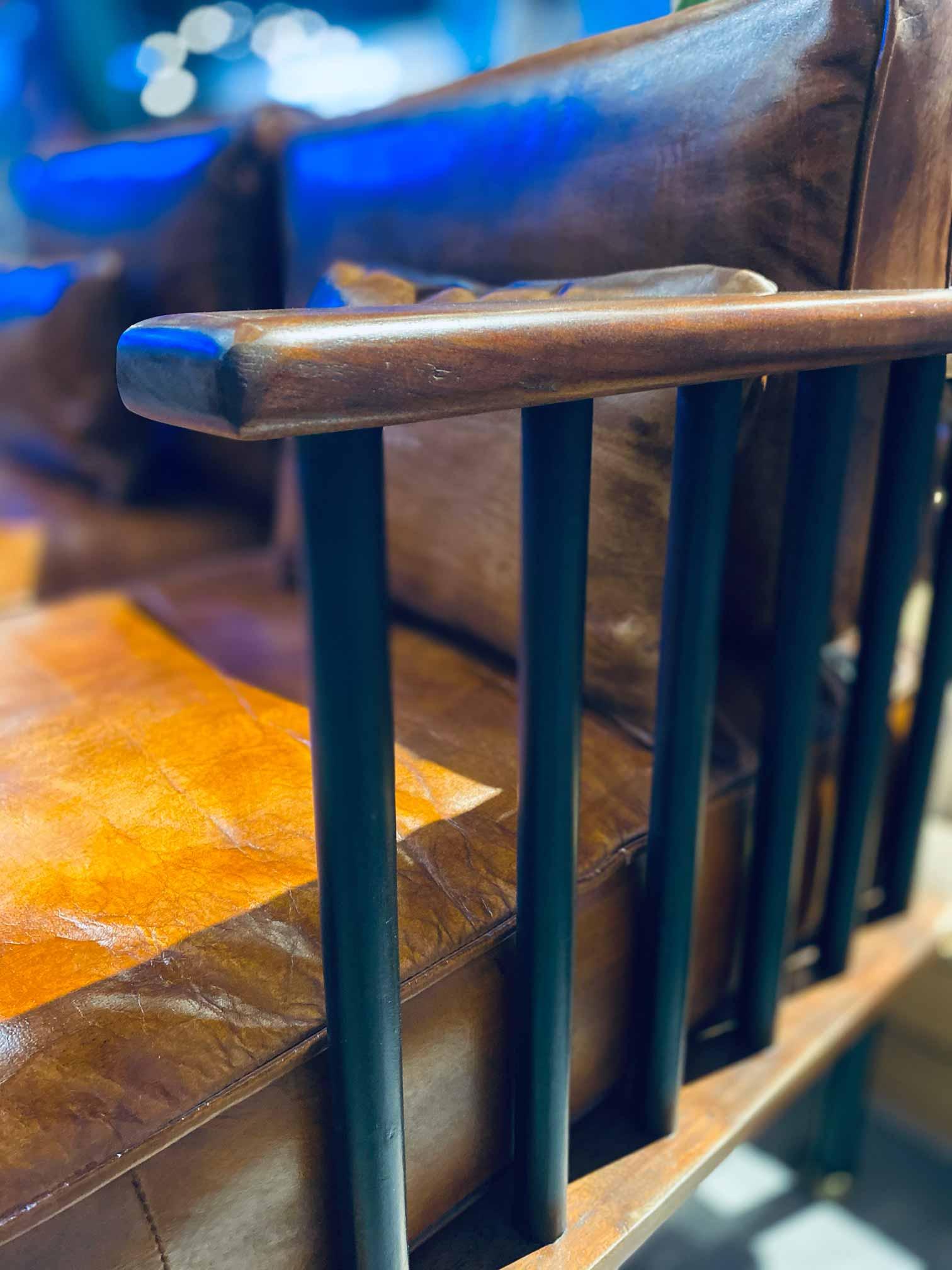 Handcrafted Furniture Singapore Sofa Armrest Detailing