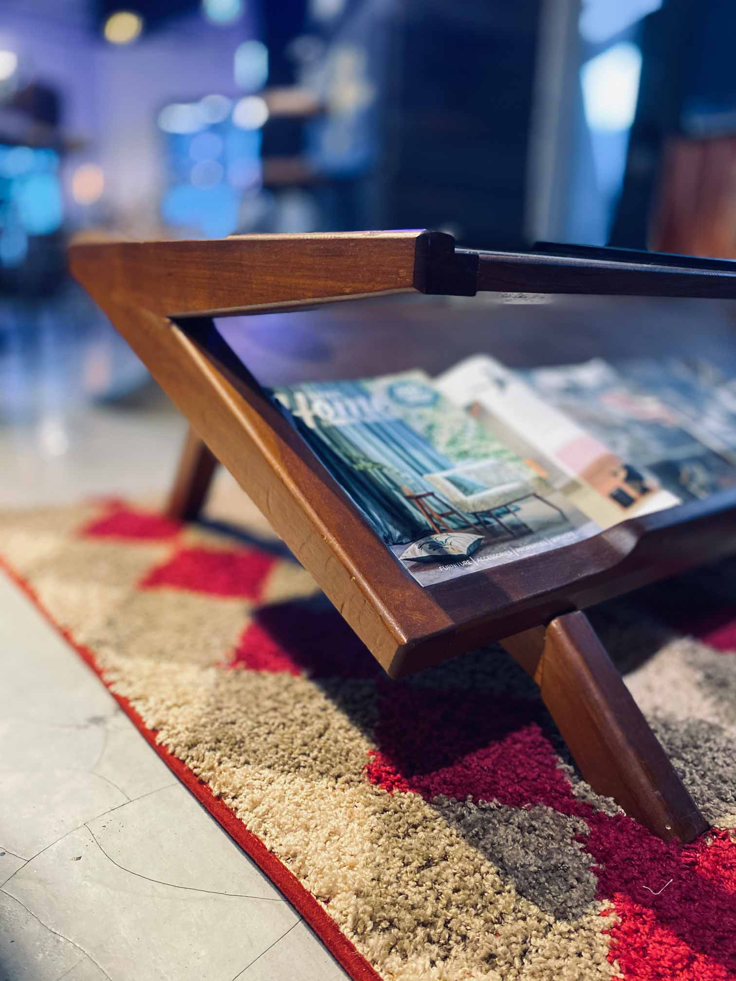 Handcrafted Furniture Singapore wood coffee table upclose