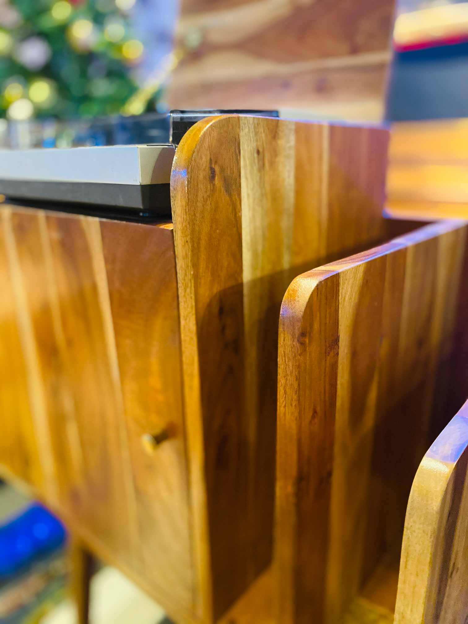 Handcrafted Furniture Singapore Console Detail Closes Up