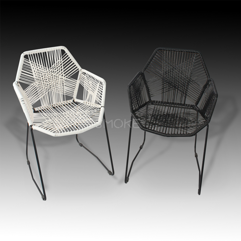 Hai Tha black and white dining chair front view