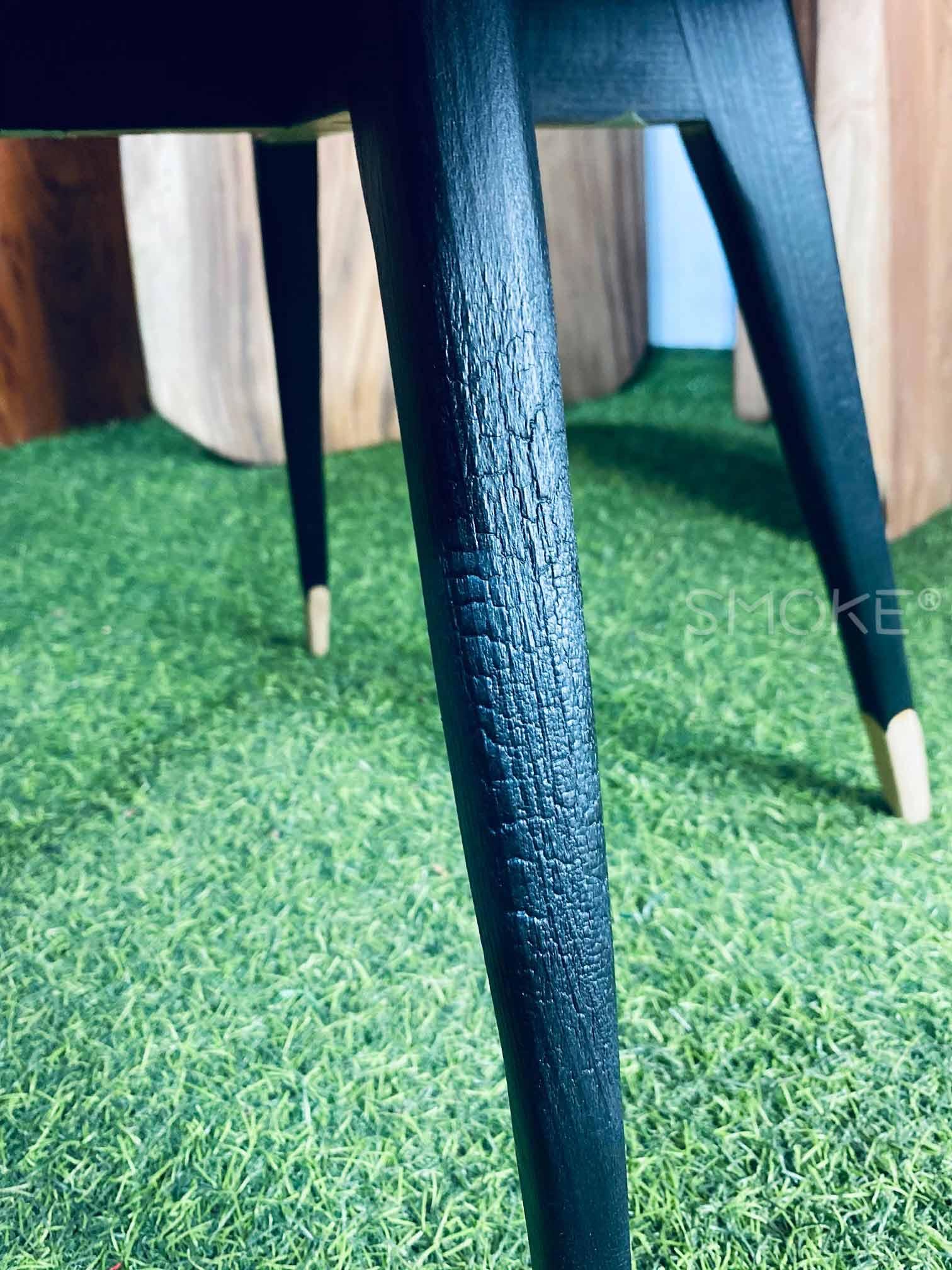 Mahogany coffee table charred leg ssb