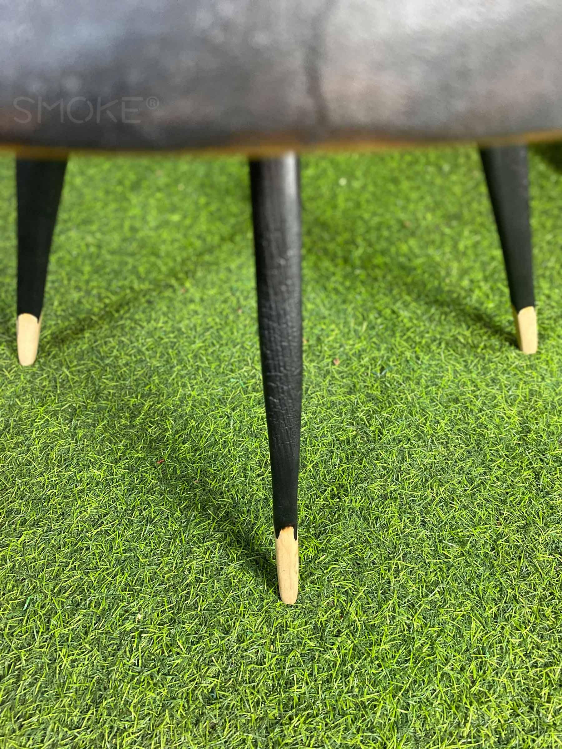 Mahogany coffee table charred leg
