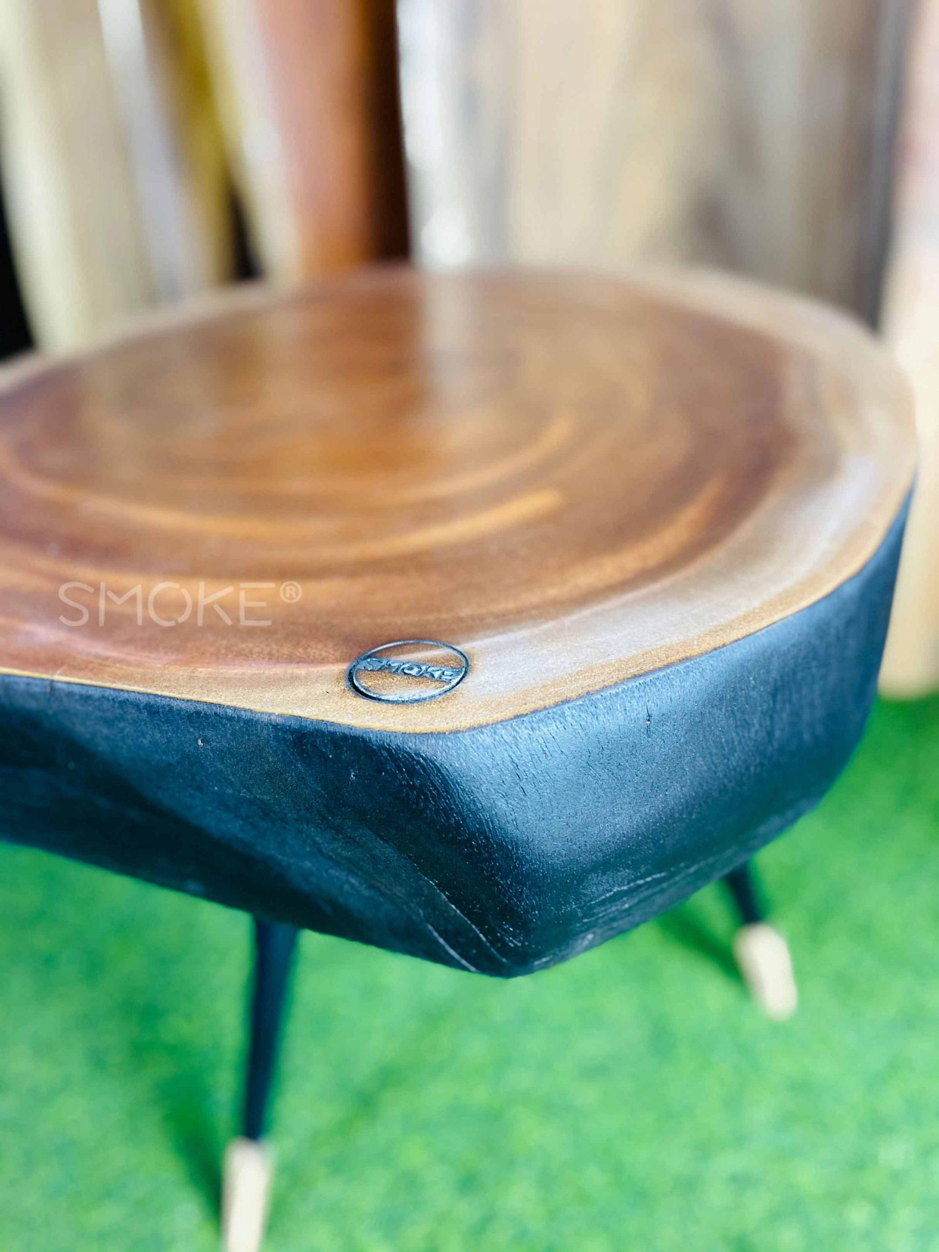 Mahogany coffee table charred