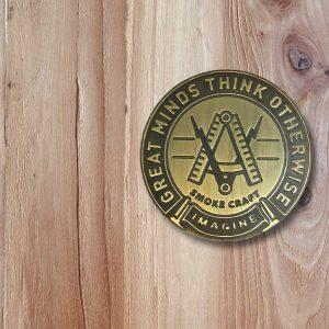 'Craft' Engraved Barn Door Metal Knob