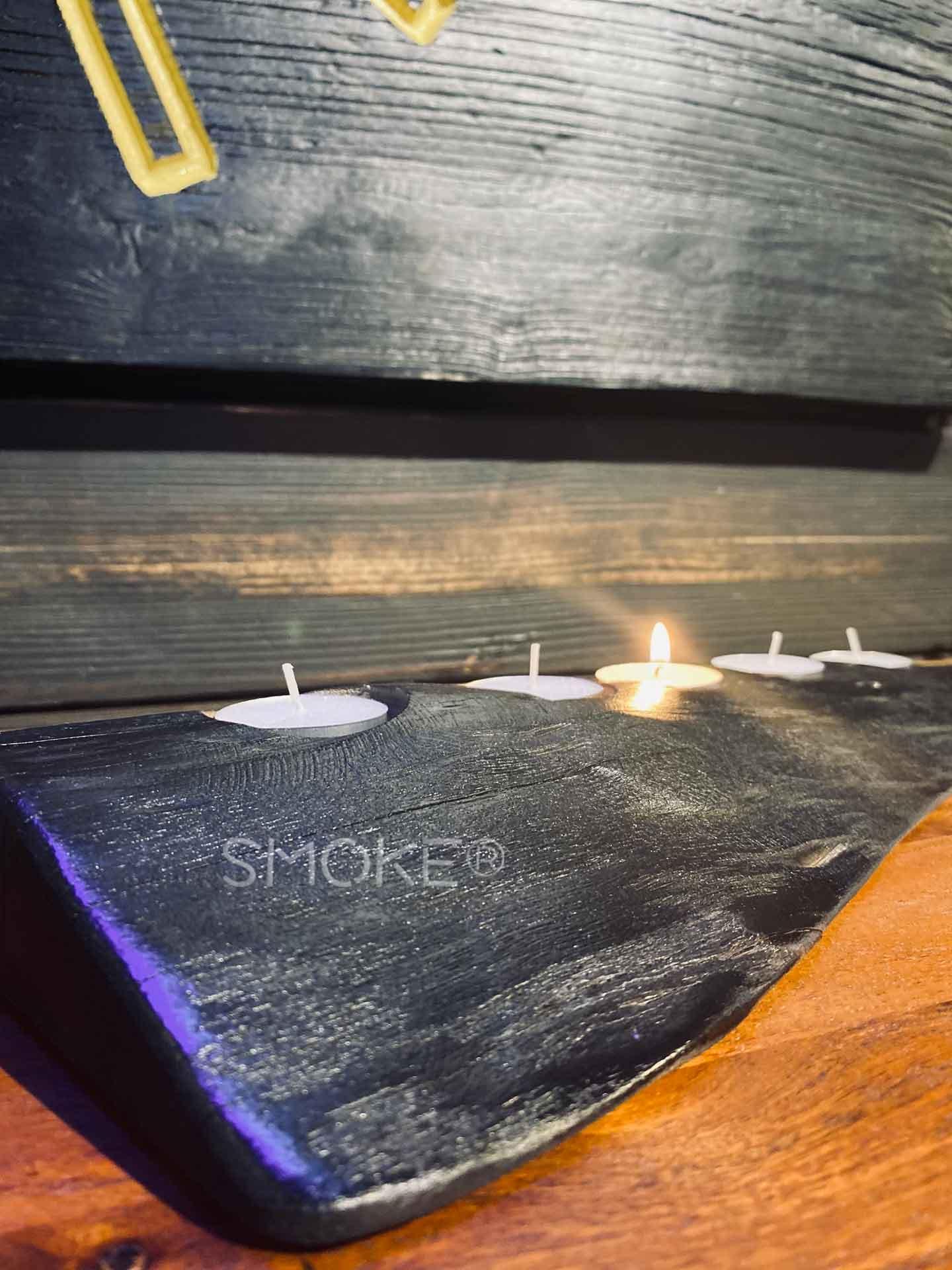 ETSU shou sugi ban candle holder