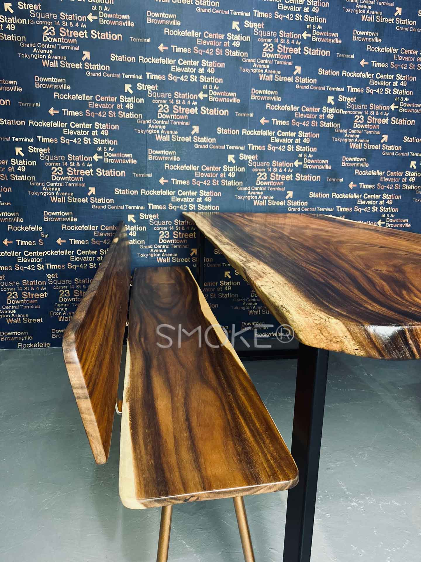 Rickson Dining Table with Bjorn wooden bench