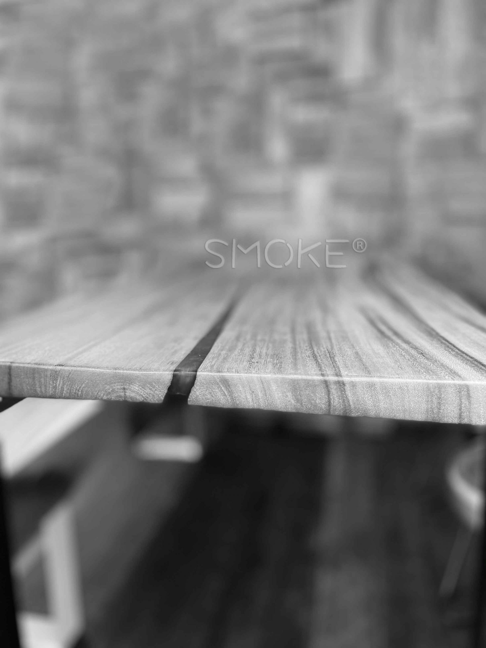 wooden dining table zoomed