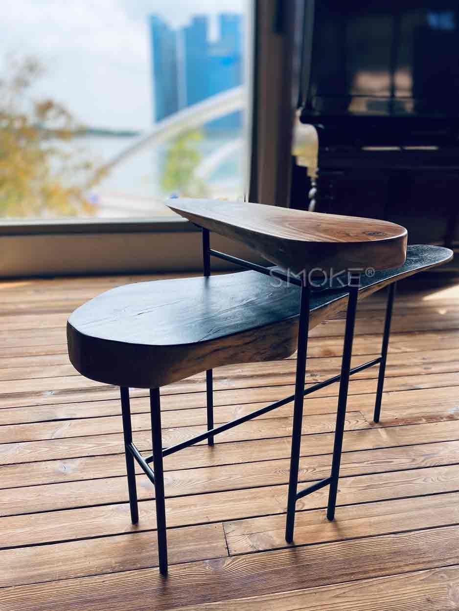 mancini shou sugi ban coffee table